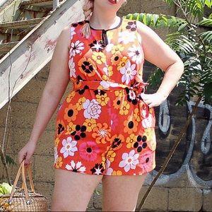 VB for Target • Orange  floral Romper